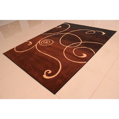 Black/Brown Area Rug Rug Size: 5'3