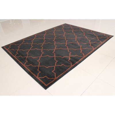 Black/Brown Area Rug Rug Size: 3 x 5