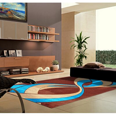 Turquoise/Red Area Rug Rug Size: Runner 2 x 72