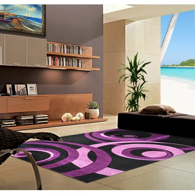 Purple Area Rug Rug Size: 2 x 3
