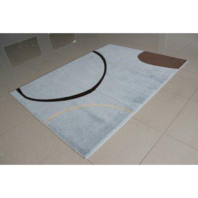 Blue Area Rug Rug Size: 53 x 72