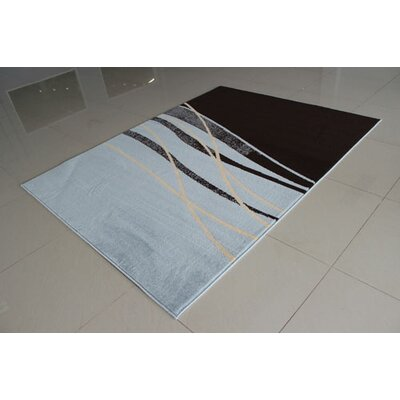 Dark Brown/Blue Area Rug Rug Size: 53 x 72
