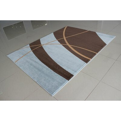 Brown/Blue Area Rug Rug Size: 53 x 72