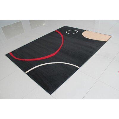 Black/Red Area Rug Rug Size: 3 x 5