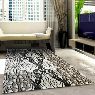 Ivory Area Rug Rug Size: 53 x 72
