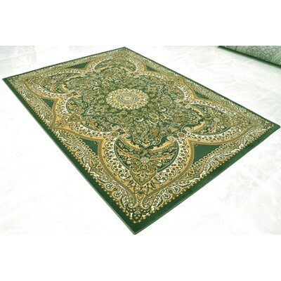 Green Area Rug Rug Size: Runner 27 x 91