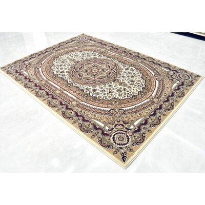 Cream Area Rug Rug Size: 711 x 910