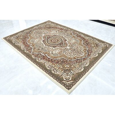 Cream Area Rug Rug Size: 53 x 72