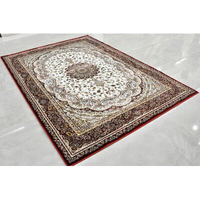 Red Area Rug Rug Size: 53 x 72