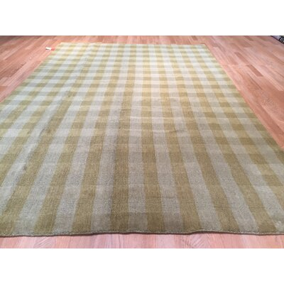 Gradient Solid Hand-Knotted Gray/Brown Area Rug