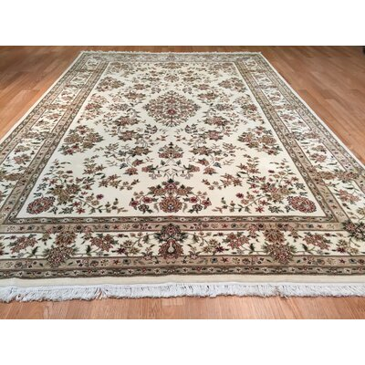Sino Tabriz Hand-Knotted Ivory/Brown Area Rug