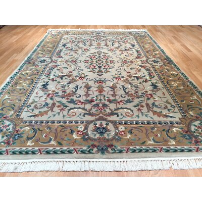 Sino Tabriz Hand-Knotted Beige/Brown Area Rug