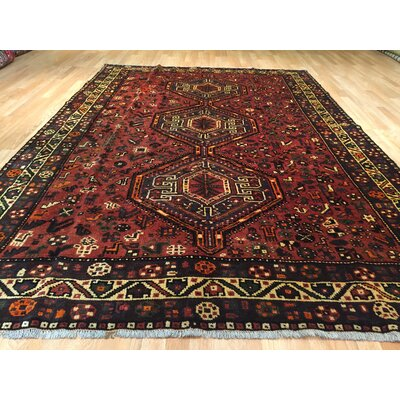 Shiraz Tribal Hand-Knotted Rust/Black Area Rug