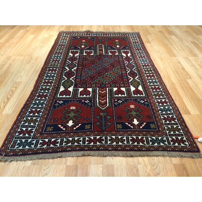 Shiraz Tribal Hand-Knotted Rust Area Rug