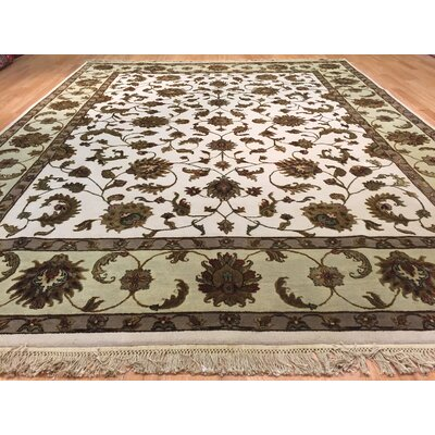Jaipur Hand-Knotted Beige/Green Area Rug
