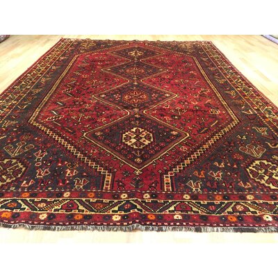 Shiraz Tribal Hand-Knotted Red/Black Area Rug