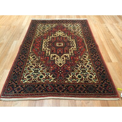 Bidjar Iron Hand-Knotted Yellow/Red Area Rug