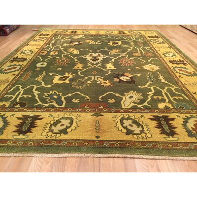 Oushak Hand-Knotted Yellow/Green Area Rug