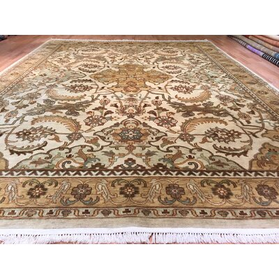 Oushak Hand-Knotted Brown/Beige Area Rug