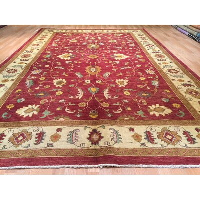 Luzerne Hand-Knotted Red Area Rug