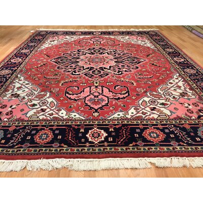 Serapi Hand-Knotted Red Area Rug