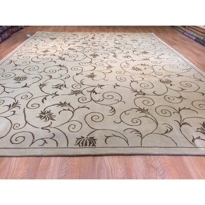 Wuhan Hand-Knotted Beige Area Rug