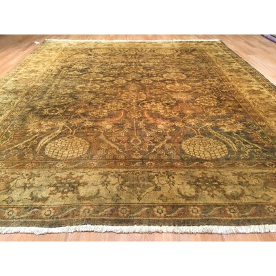 Luzerne Hand-Knotted Brown/Green Area Rug