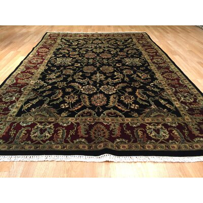 Drumsill Hand-Knotted Burgundy/Black Area Rug