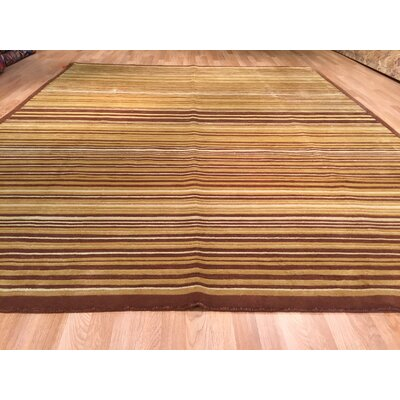 Nepal Hand-Knotted Brown Area Rug