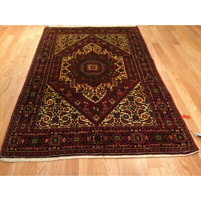 Bidjar Iron Hand-Knotted Red Area Rug