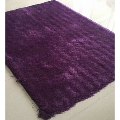 Hahn Purple Area Rug Rug Size: 53 x 72