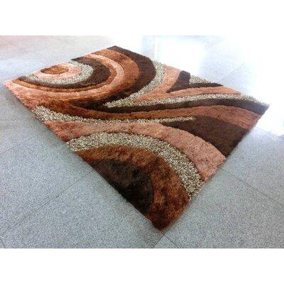 Nikezah Brown Area Rug Rug Size: 7 x 10