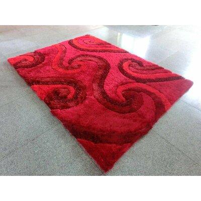 Savitha Red Area Rug Rug Size: 53 x 72