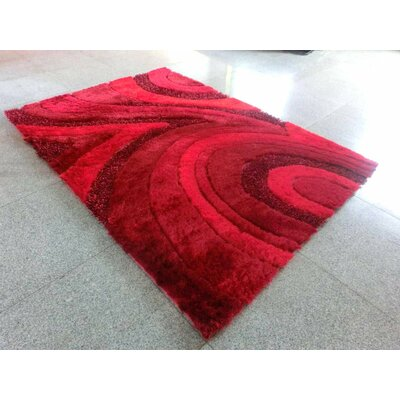 Dwaine Red Area Rug Rug Size: 53 x 72