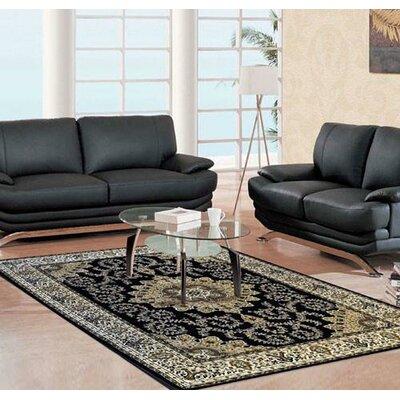 Lapham Black Area Rug Rug Size: 711 x 910