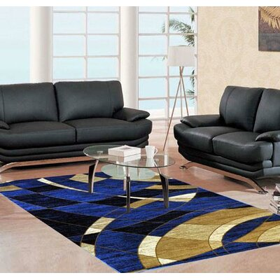 Skiles Dark Blue Area Rug Rug Size: Runner 27 x 91