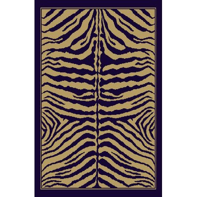 Claire Navy Blue/Beige Area Rug Rug Size: 711 x 910