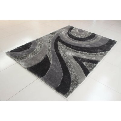 Joshawn Geometric Gray Area Rug Rug Size: 2 x 3