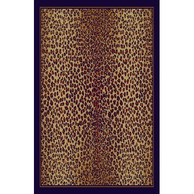 Dolores Navy Blue Area Rug Rug Size: 53 x 72