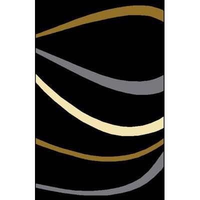 Jermal Black Area Rug Rug Size: 53 x 72