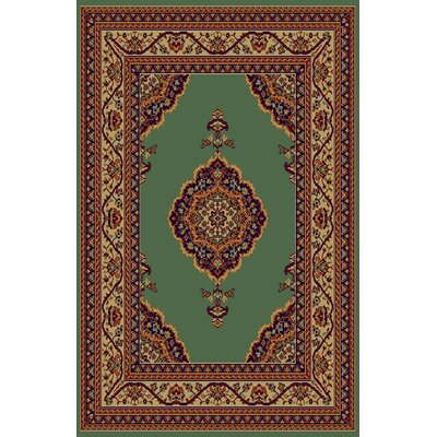 Cecilia Green/Brown Area Rug Rug Size: 53 x 72