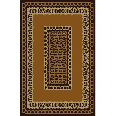 Carla Brown Area Rug Rug Size: 53 x 72