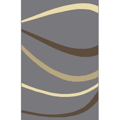 Rhannon Gray Area Rug Rug Size: 53 x 72