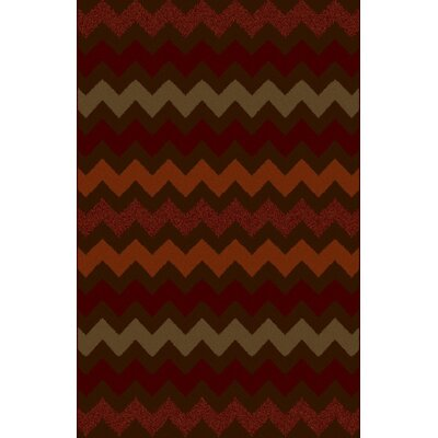 Keyone Brown/Red Area Rug Rug Size: 53 x 72