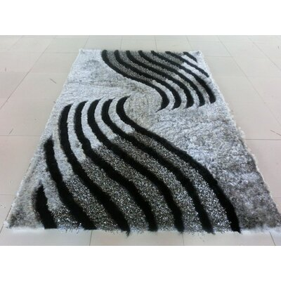 Joshawn Stain Resistant Rectangle Gray Area Rug Rug Size: 5'3