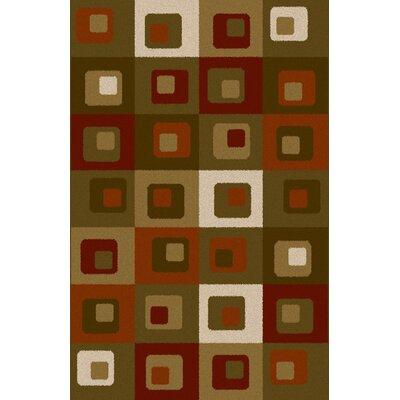 Teaaira Green Area Rug Rug Size: 53 x 72