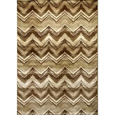 Geren Brown Area Rug Rug Size: 53 x 72