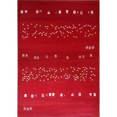 Latisha Red Area Rug Rug Size: 10 x 13