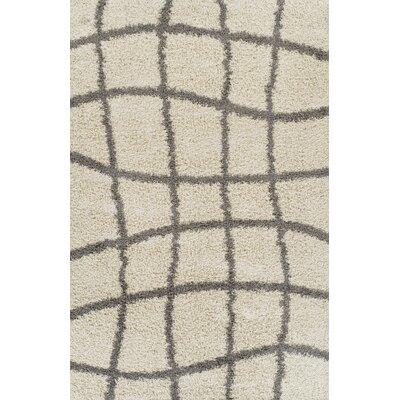 Gabriel Ivory Area Rug Rug Size: 53 x 72