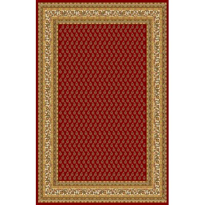 Amatrudo Red Area Rug Rug Size: 711 x 910